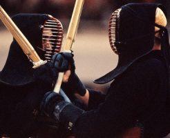 剣道つばぜり合い