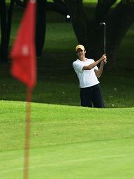 ゴルフのアプローチ